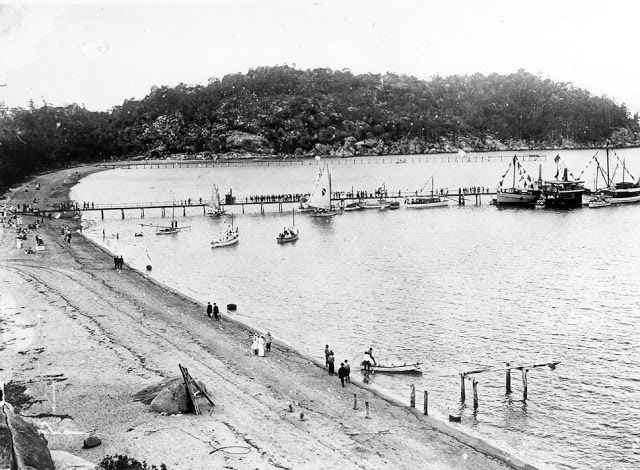 Picnic Bay, Hayles Jetty, E.R.Hayles Album, NQ Photographic Collection, NQID 3987.