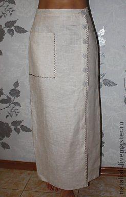 Юбки ручной работы. Ярмарка Мастеров - ручная работа. Купить Льняная юбка. Handmade. Серый, льняная одежда, юбка