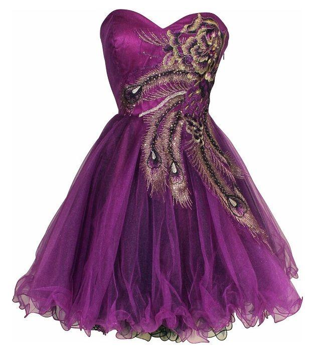 Cute Dresses for Teens   cute corset tutu purple graduation dresses for juniors teens prom ...