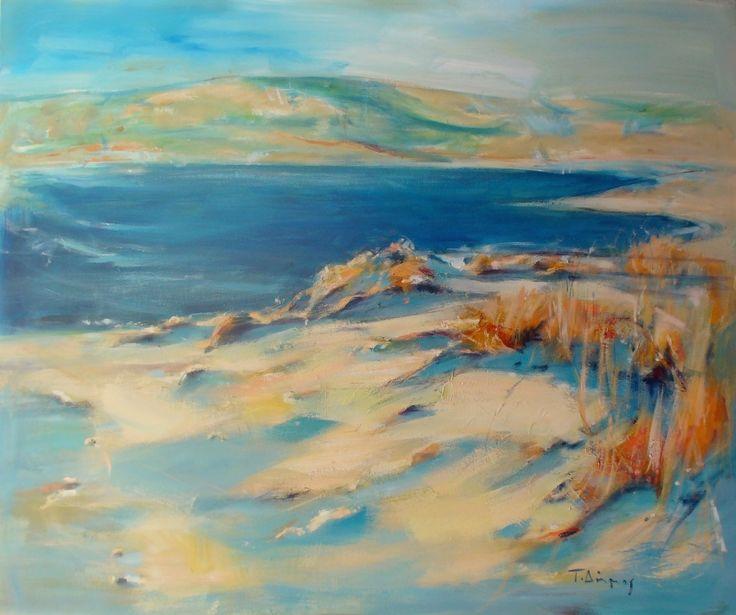 """""""Beach"""" by Tasos Dimos (acrylic on canvas)"""
