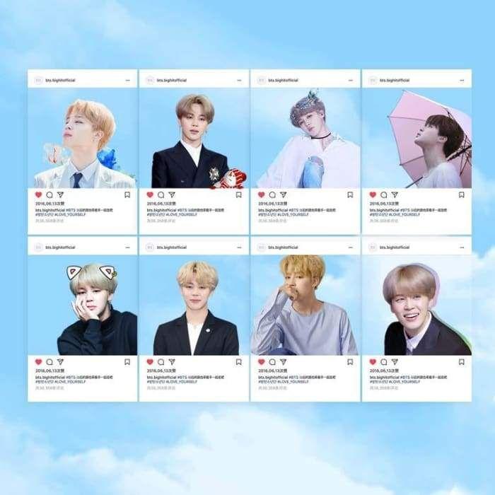 BTS Jimin Instagram Transparent Card | BTS K-POP in 2019