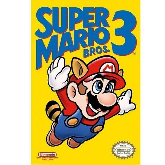 Nintendo Mario Bros kinder posters  Poster van Nintendo Mario Bros 3. Maxi cartoon poster van Nintendo Mario Bros 3. Het formaat van de poster is ongeveer 61 x 91 cm groot. De poster wordt opgerold in plastic geleverd.  EUR 6.99  Meer informatie