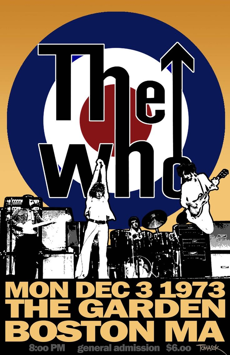 The Who.....boston garden 1973