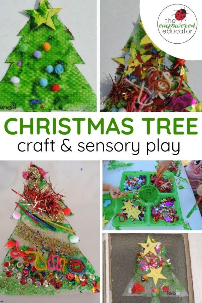 Sensory Christmas Tree Craft The Empowered Educator Fun Christmas Crafts Craft Activities For Toddlers Christmas Tree Crafts