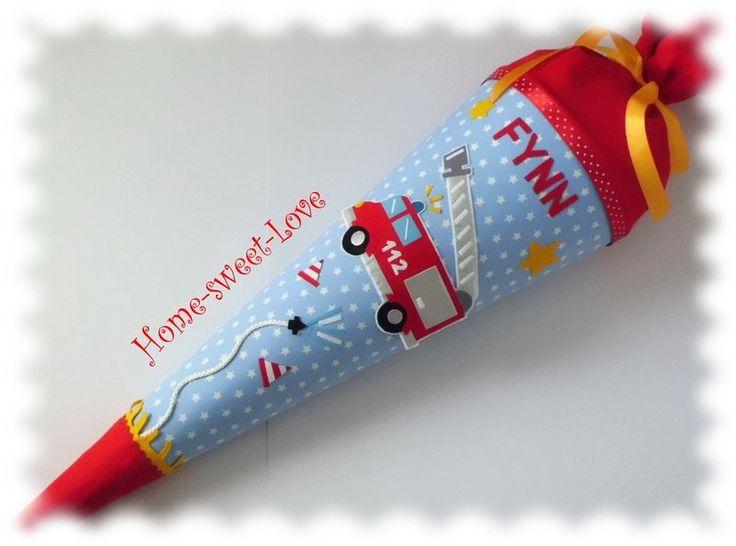 Schultüte Feuerwehr ~ Auto von Home-sweet-love auf DaWanda.com
