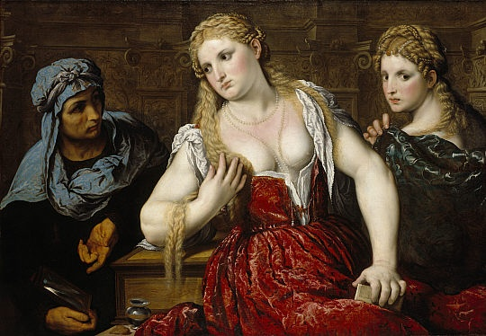 Paris Bordon  Venetian Women at their Toilet (1545)
