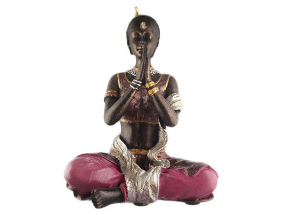 Yoga figurine/statue Namaste Meditation pose by KarmaKreationsOM, $25.99