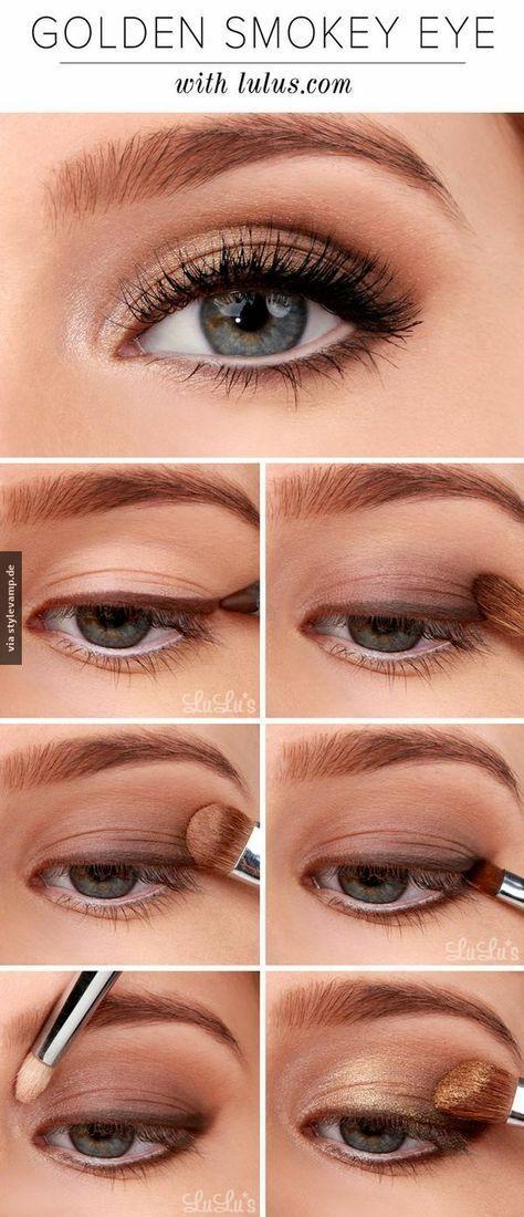Von wegen Smokey Eyes müssen immer schwarz sein!