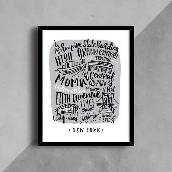 PRINTABLE Art Print NYC New York Poster New York Wall Art