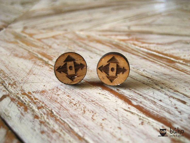 Wooden geometric studs