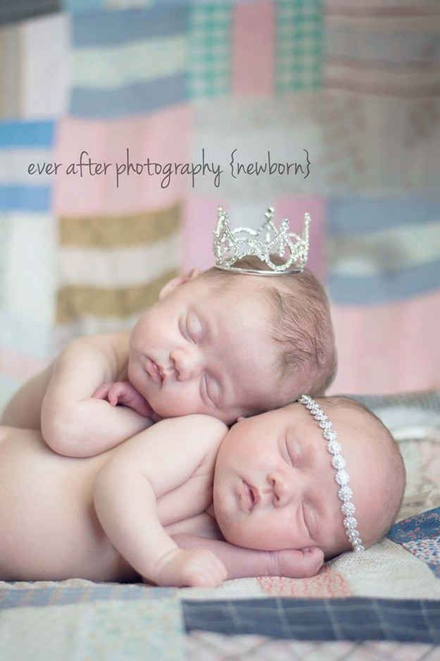 Bring the bling:   34 Beautiful And Creative Photography Ideas For Twins