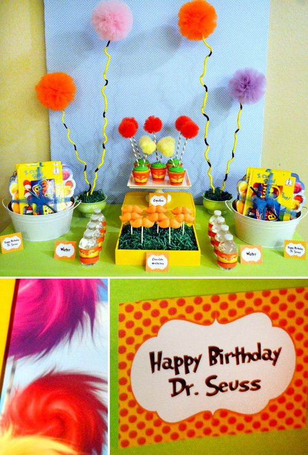 Dr.+Seuss'+The+Lorax+Inspired+Dessert+Table