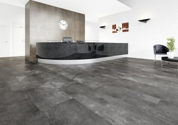 Joka Design 555 Vinyl Designbelag Black Screed Zum Verkleben Raumbild. Neue  Küche