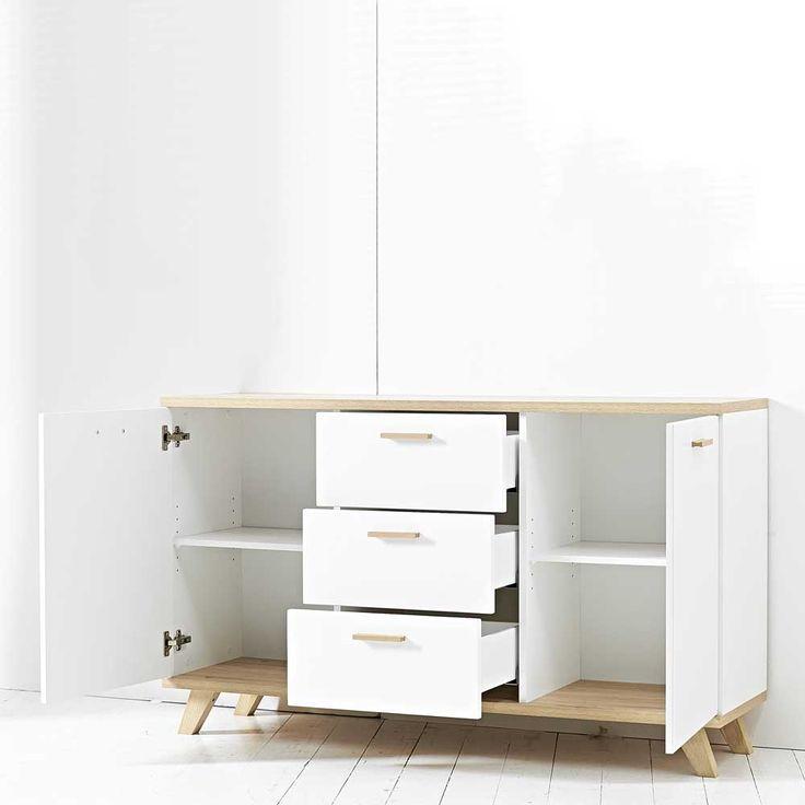 Anrichte in Weiß Büro sideboard,wohnzimmerschrank,kommode,sidebord,küchenkommode,wohnzimmer schrank,wohnzimmer kommode,große kommode,esszimmer kommode,wohnzimmerkommode,esszimmerkommode Jetzt bestellen unter: https://moebel.ladendirekt.de/wohnzimmer/schraenke/kommoden/?uid=375581f2-d052-5bc1-84d1-e0114d17c852&utm_source=pinterest&utm_medium=pin&utm_campaign=boards
