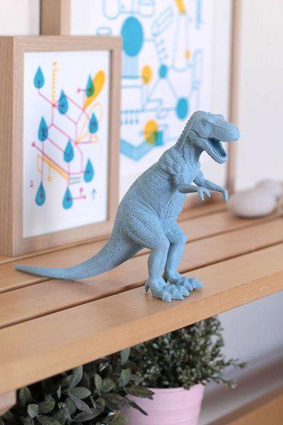 Objetos de decoración - CUCHICHI dinosaurio t-rex azul - hecho a mano por currorubira en DaWanda