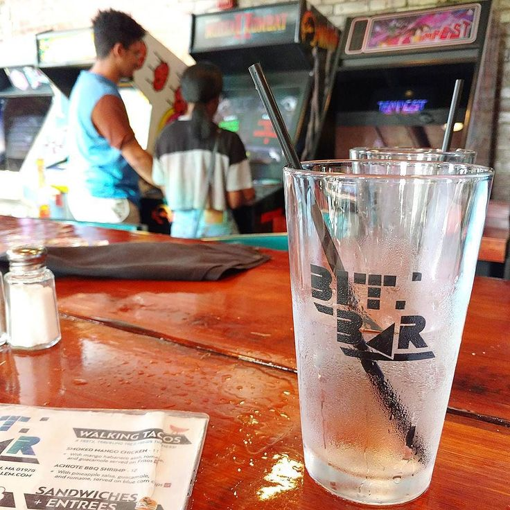 Another cool shot from Bit Bar.  Too bad you have to pay for the games  Remember them quarters!!  #barcade #bar #arcade #fun #salem #boston #games #videogames #drinks #alcohol #restaurant #play #playtime #funtime #menu #foodandgames #massachusetts #chill #relax