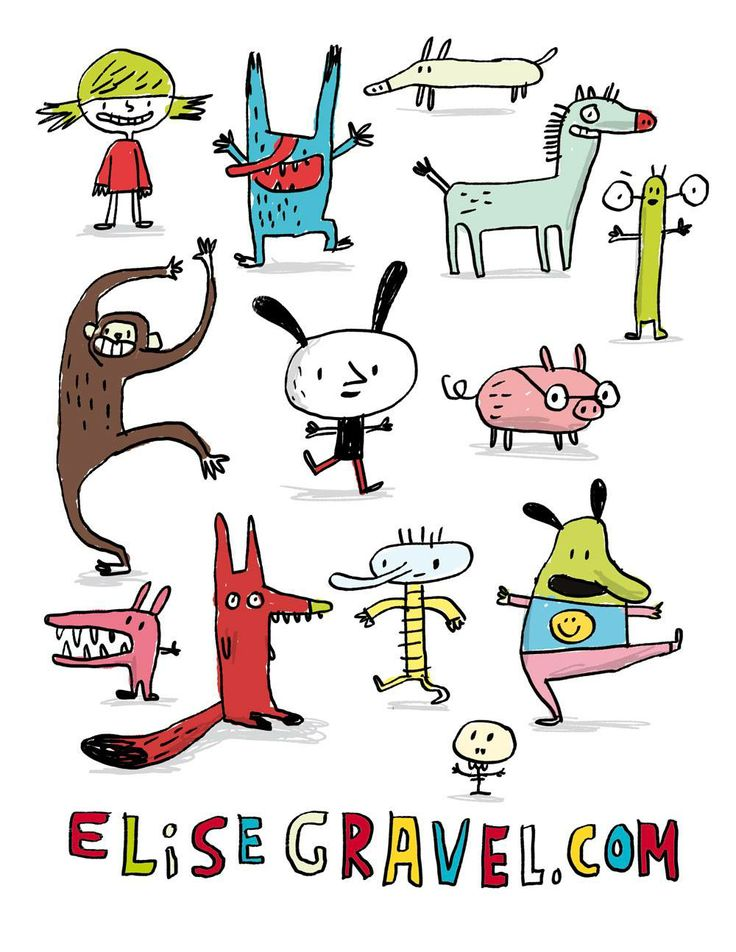 Elise Gravel - Character design - personnages