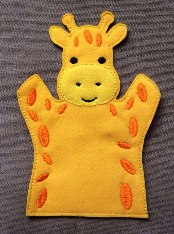 Giraffe - Safari Animal Felt Puppet - Adult, Kid, AND Finger Puppet Sizes