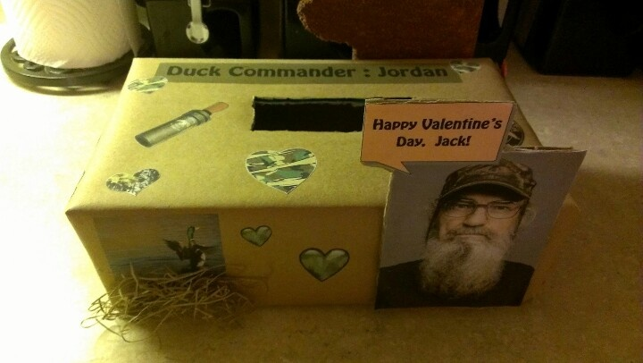 Duck Dynasty Valentine's box: Awesome Crafts, Event Foods, Valentines, Duck Dynasty, Valentine S Box, Dynasty Valentine S, Valentine Boxes, Craft Ideas