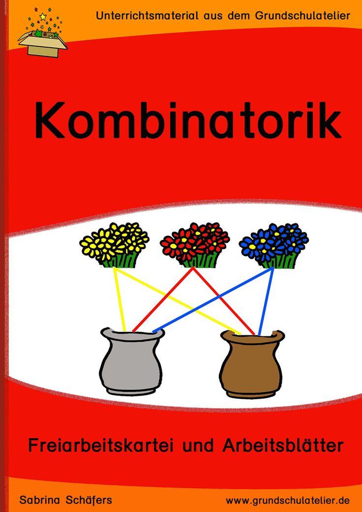 Unterrichtsmaterial für den Mathematikunterricht: 20 Karteikarten zur Kombinatorik Förderung des mathematischen, logischen Denkens (Knobelaufgaben) 33 Seiten, pdf-Format, Klassen 2-4
