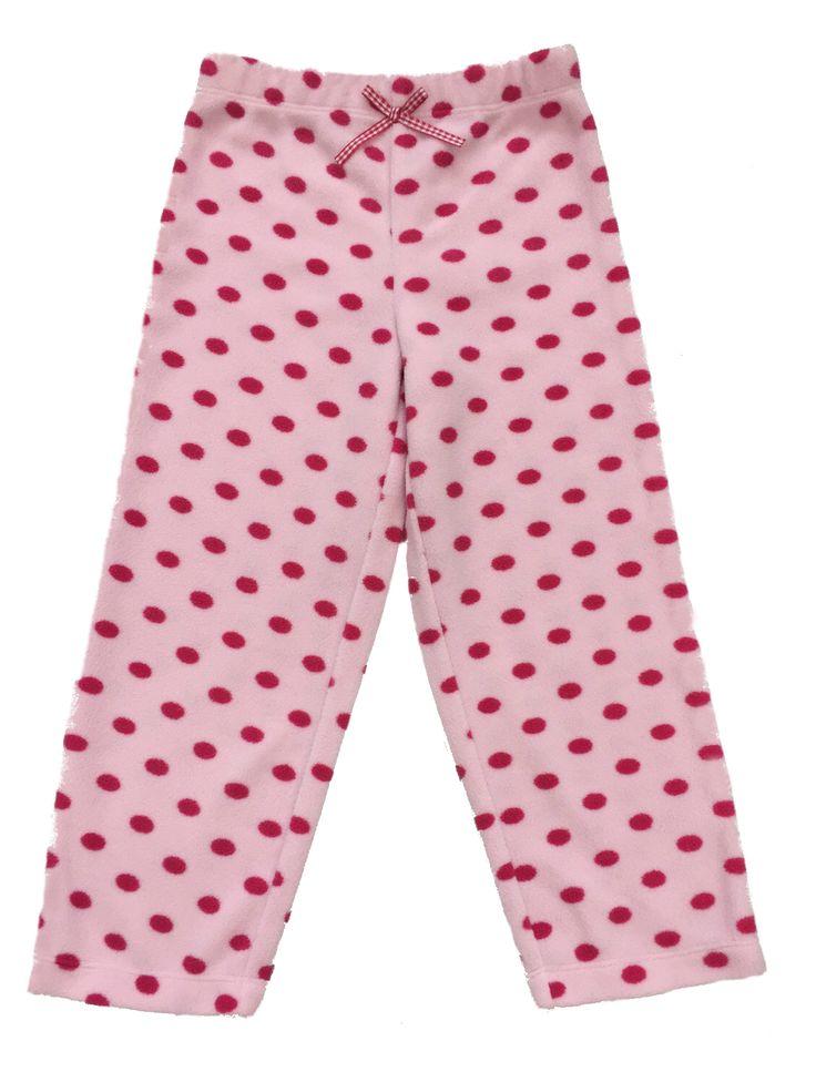 Girl's Pink - Polka Dots Fur Pyjama