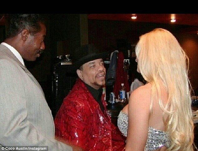 'This is the actual moment': Coco Austin shared this Instagram snap on New Year's Eve showing her first introduction to the love of her life, rapper-actor Ice-T, 16 years ago