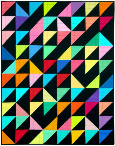 Triangle Quilt Pattern Texture Photos : 223 best Half Square Triangle quilts images on Pinterest Jellyroll quilts, Kid quilts and Eye ...