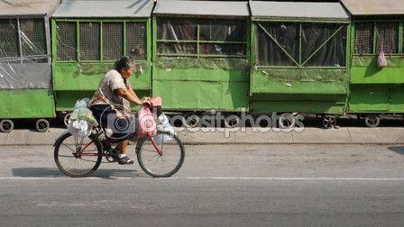 Cycling near Kalare Night Bazaar area in Chiangmai – Stock Editorial Photo © photostocknatonny #58397127
