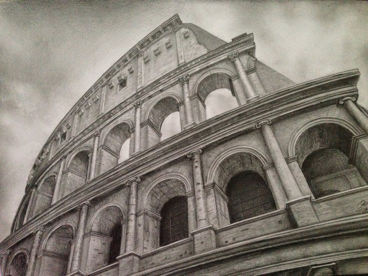 Colosseum - Pencil Drawing