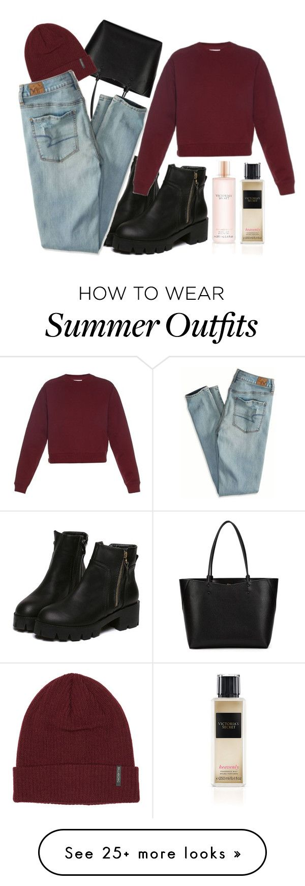 """"" by mashka89 on Polyvore featuring Valextra, Billabong, American Eagle Outfitters, Acne Studios and Victoria's Secret"
