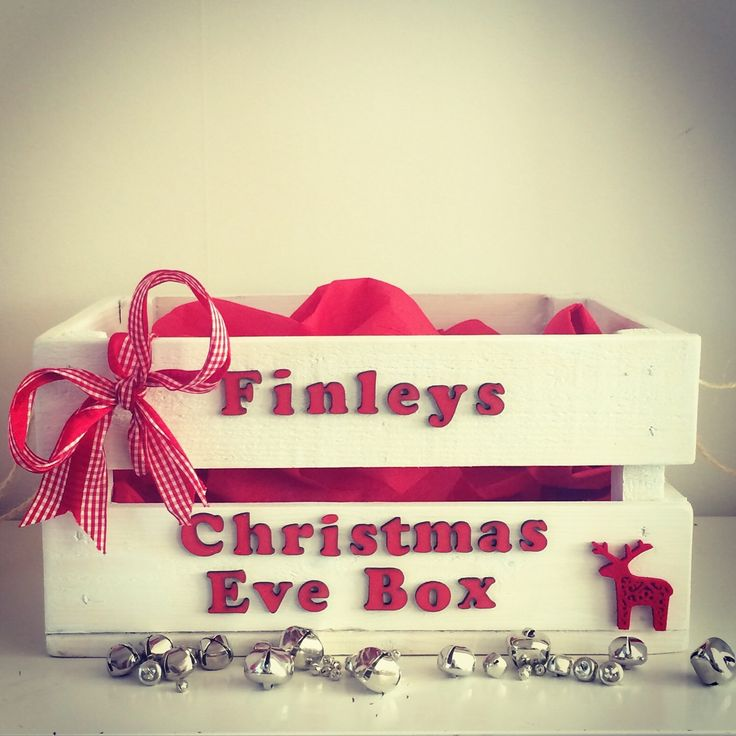 Christmas Eve Box, Christmas Gift, Wooden Crate, Christmas Decor, Personalised Gift by PerfectParcels1 on Etsy https://www.etsy.com/listing/243466694/christmas-eve-box-christmas-gift-wooden