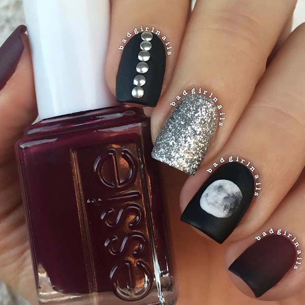 41 Edgy Matte Black Nails to Inspire You