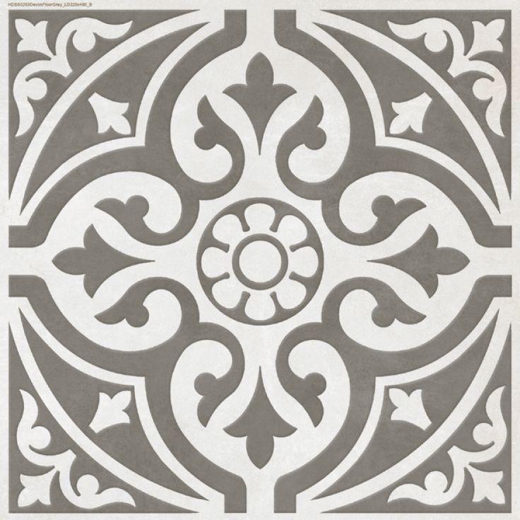 Devon Stone Grey Feature Floor Tile 33x33cm