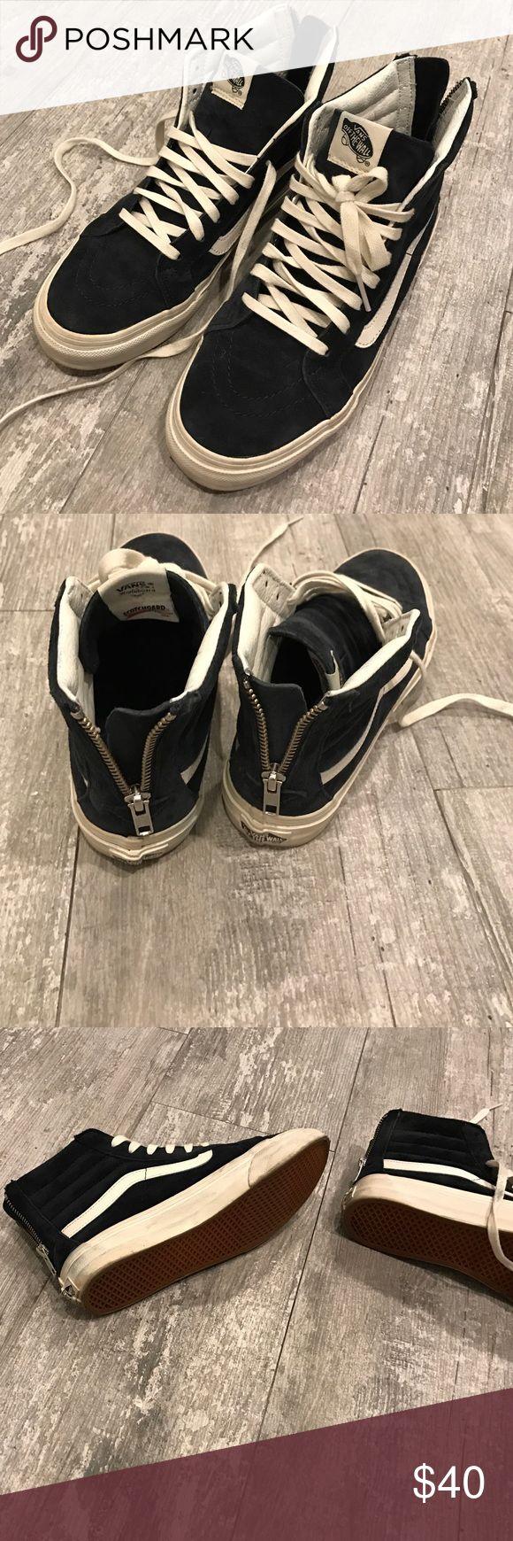 Vans women's high top sneaker Navy blue high top vans suede navy blue sz 6.5 Vans Shoes Sneakers