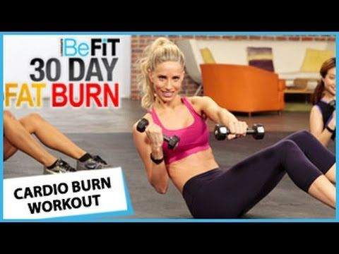 ▶ 30 Day Fat Burn: Cardio Burn Workout - YouTube