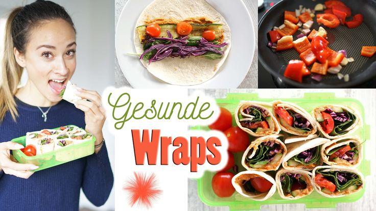 Wraps selber machen - Mittagessen zum mitnehmen - gesund und vegan Essen