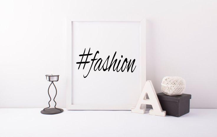 Fashion Hashtag Hashtag PostFashion PosterInstagram Art Hashtag Art Instant Download Printable Art #Fashion #Beatiful Social Media