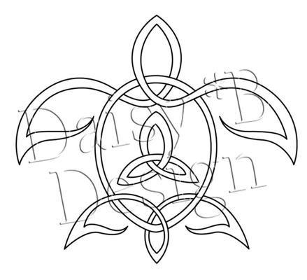 celtic turtle tattoo design maybe