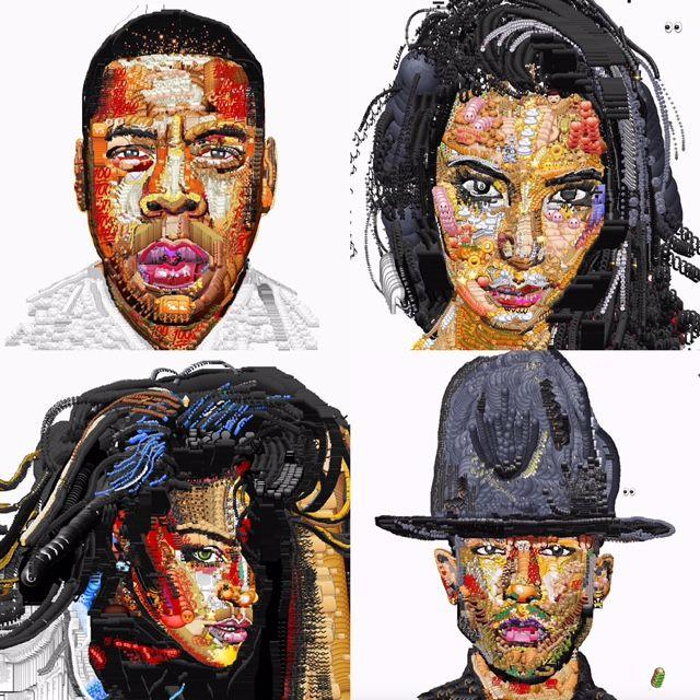 booZhee art using Emojis as the medium! http://www.booZhee.com  #art #celebrity #popculture #booZheeStyle #yungjake