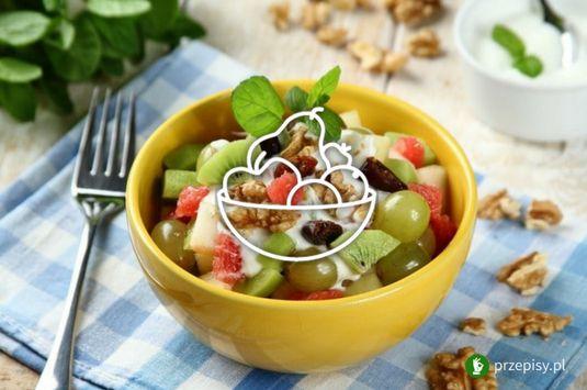 Sałatka owocowa #salad #fruit #grape