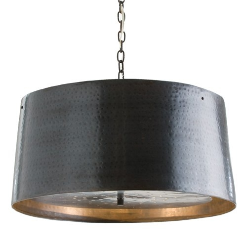 a rich english bronze finish brings a warm glow to the anderson pendant by arteriors making this industrial accent perfectly suited for transitional decor arteriors soho industrial style pendant light fixture