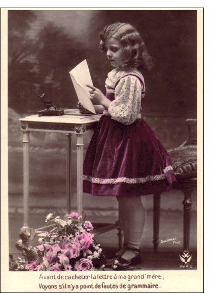 Carte Lettre à ma grand-mère pour envoyer par La Poste, sur Merci-Facteur !