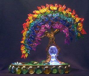 "Рай-Дуга и к тому же светильник или ""За сбычу мечт!"" | biser.info - всё о бисере и бисерном творчестве"