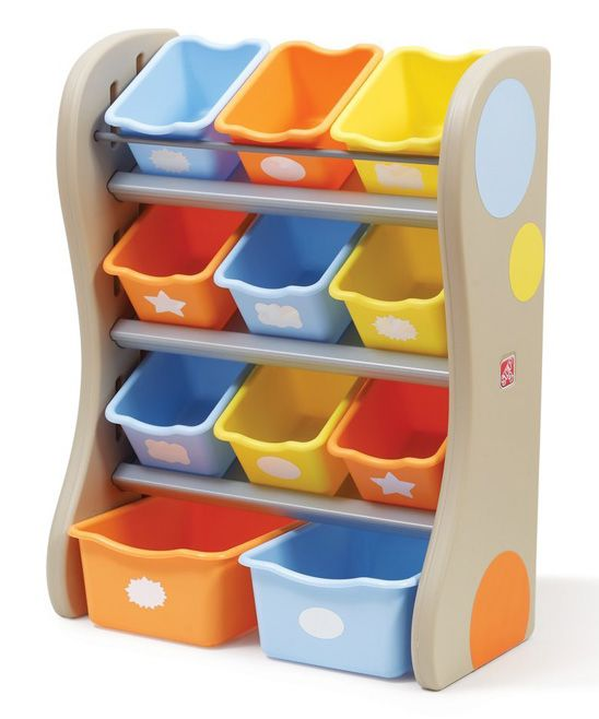 Tropical Color Fun Time Room Organizer Set - great idea for the toys to come.