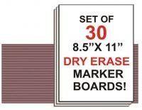 Dry Erase Marker Board - Set of 30