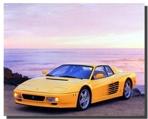This beautiful yellow Ferrari car art print poster deserves a space at your home. This classic yellow Ferrari car poster is a great way to dress up any blank wall. This versatile poster will add a lively dimension to the decor of your home. You can add your own unique style in minutes! This poster is ideal for your home decor and goes well with all décor style. Hurry up and order this poster for its excellent quality with high degree of color accuracy.