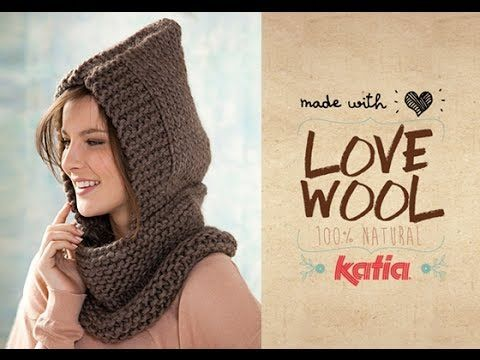 Tutorial: How to knit a Hooded Neckwarmer - YouTube