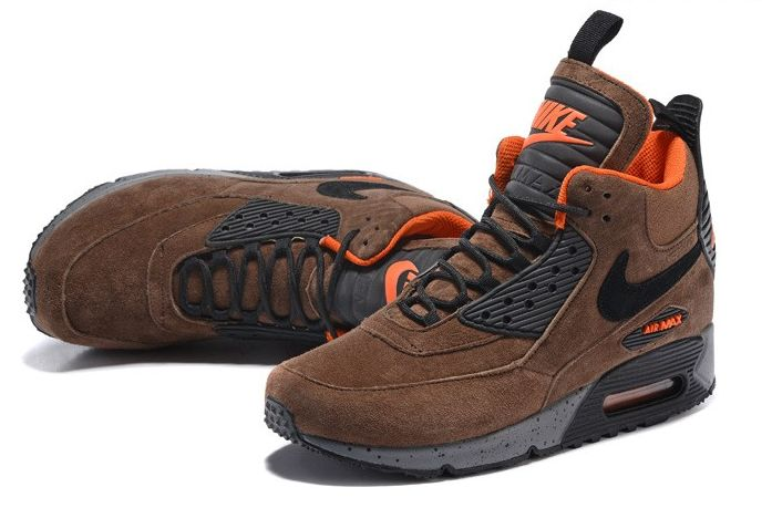 NIKE AIR MAX 90 SNEAKERBOOT BROWN BLACK ORANGE 684714 020 - | NIKE AIR |  Pinterest