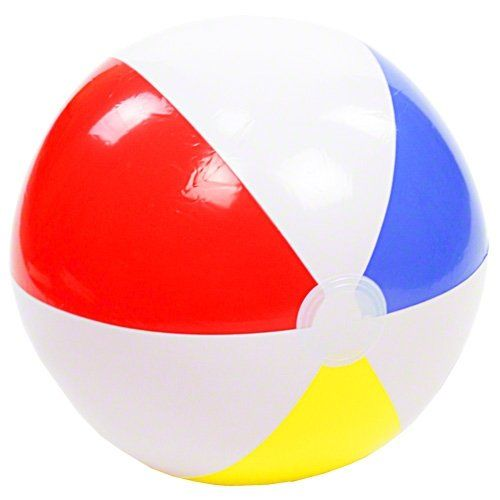 """Glossy Inflatable 20"""" Beach Ball 51cm - Sea / Swimming Pool / Summer Holiday Party Intex http://www.amazon.co.uk/dp/B00RGZ75EG/ref=cm_sw_r_pi_dp_.oPpwb1C4JJN9"""
