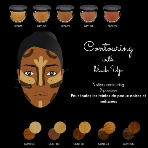 blackgirlsofparis:  Black Up is a french makeup brand for light and dark black skins. Available onSephora online shop, you can also buy it in Black up stores (France). The best seller of the brand is the contouring stick inspired by the makeup technic of the same name. Five tones are available. I have tested the n°5, the deeper shade. The product is AMAZING ! I really love it.Video here…